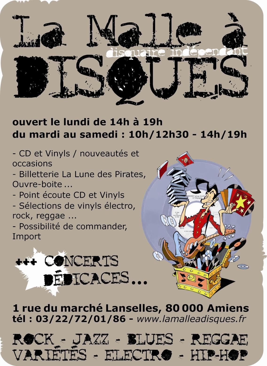 Évènement Journée – Showcases à La Malle à Disques (Amiens)